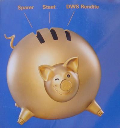 Bild  dws schwein DWS mit Schweine Werbung wie Allianz