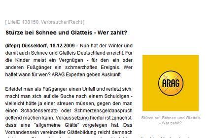 Bild  Arag3 ARAG PR beim Hamburger Abendblatt jetzt kostenpflichtig