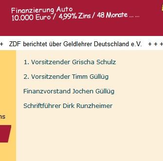 Bild  Geldlehrer Vorstand Geldlehrer Verein Deutschland   eher eine Gelddruck Maschine
